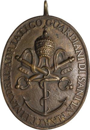 obverse: Distintivo di Guardiano di Sanità Marittima dell Adriatico. Stato Pontificio, inizi del XIX sec