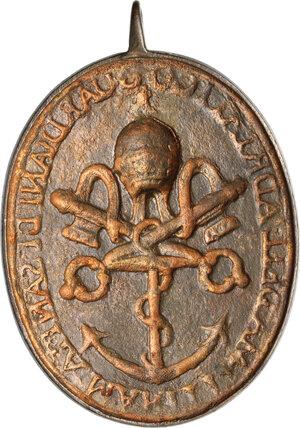 reverse: Distintivo di Guardiano di Sanità Marittima dell Adriatico. Stato Pontificio, inizi del XIX sec
