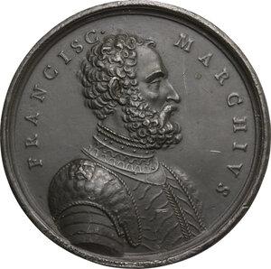 obverse: Francesco de Marchi (1504-1576), ingegnere militare e pioniere della scalata al Gran Sasso.. Medaglia 1819