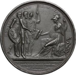 reverse: Francesco de Marchi (1504-1576), ingegnere militare e pioniere della scalata al Gran Sasso.. Medaglia 1819