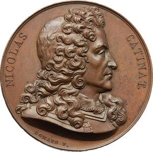 obverse: Nicolas Catinat (1637-1712), generale.. Medaglia 1823
