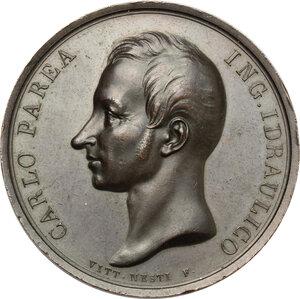 obverse: Roma.  Carlo Parea (1770-1834), ingegnere. Medaglia 1834