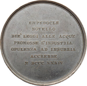reverse: Roma.  Carlo Parea (1770-1834), ingegnere. Medaglia 1834