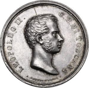 obverse: Leopoldo II di Lorena (1824-1859).. Medaglia 1836