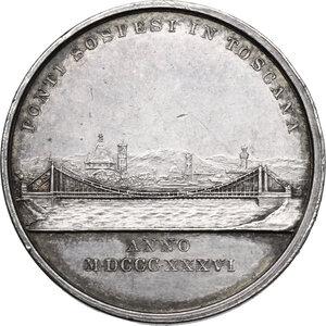 reverse: Leopoldo II di Lorena (1824-1859).. Medaglia 1836