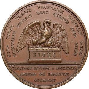 reverse: Mercurino Arborio di Gattinara (1465-1530), Cardinale e Gran Cancelliere di Carlo V. . Medaglia 1845