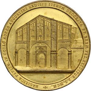 obverse: Medaglia per il restauro della Basilica di San Pietro in Ciel d Oro di Pavia, 1900