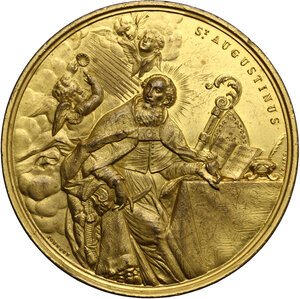 reverse: Medaglia per il restauro della Basilica di San Pietro in Ciel d Oro di Pavia, 1900