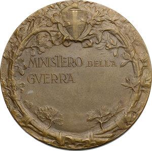 reverse: Medaglia premio coniata per il Ministero della Guerra
