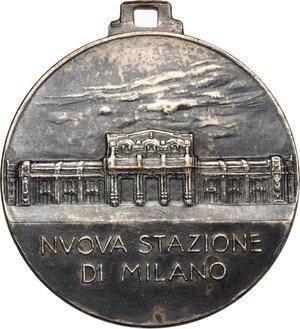 obverse: Medaglia NUOVA STAZIONE DI MILANO, 1931