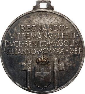 reverse: Medaglia NUOVA STAZIONE DI MILANO, 1931