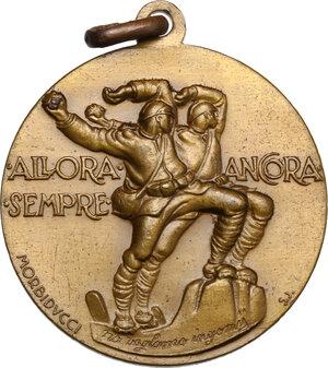 reverse: Medaglie fasciste.. Medaglia 1931, Adunata Associazione Nazionale del Fante Gorizia