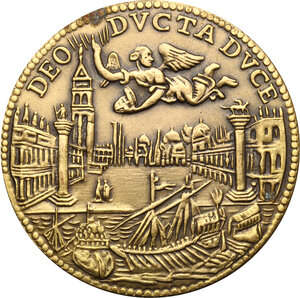reverse: Marcantonio Giustinian (1684-1688). Riproduzione dell Osella anno I, 1684. Coniazione speciale Johnson, 1971