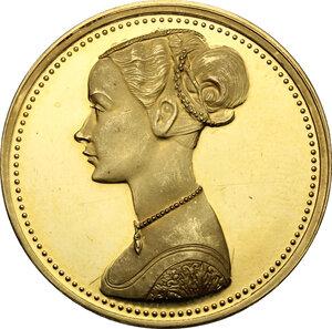 obverse: Medaglia tributo con dama del Pollaiolo, XX secolo