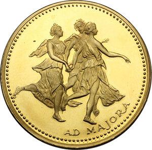 reverse: Medaglia tributo con dama del Pollaiolo, XX secolo