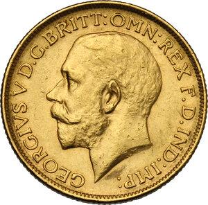 obverse: Australia.  George V (1910-1936). Sovereign 1919, Sidney mint
