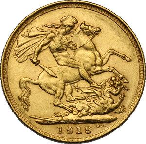reverse: Australia.  George V (1910-1936). Sovereign 1919, Sidney mint