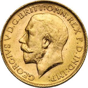 obverse: Australia.  George V (1910-1936). Sovereign 1920, Perth mint