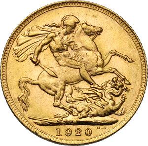 reverse: Australia.  George V (1910-1936). Sovereign 1920, Perth mint