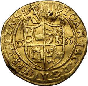 obverse: Austria.  Johann Jakob Khuen (1560-1586). Ducat 1565, Salzburg mint