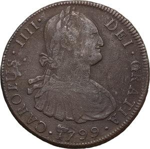 obverse: Bolivia.  Carlos IV (1788-1808).. 8 Reales 1799, Potosì mint