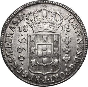 obverse: Brazil.  Joao VI (1816-1826) as Regent. 960 reis 1815 B, Bahia mint