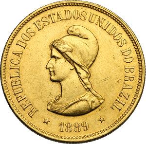 obverse: Brazil.  Republic (1889- ). 20000 reis 1889