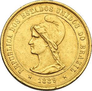 obverse: Brazil.  Republic (1889- ). 10000 reis 1889