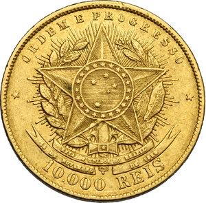 reverse: Brazil.  Republic (1889- ). 10000 reis 1889