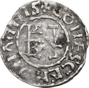 obverse: France.  Herbert I Éveille-Chien (1014/5-1032/5).. Denier, Maine (comté)