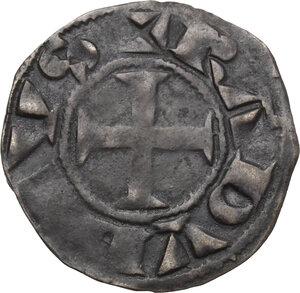 obverse: France.  Raoul VII or VI (1160-1176).. Denier