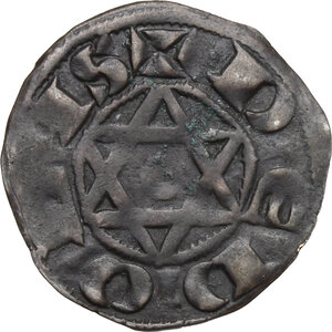 reverse: France.  Raoul VII or VI (1160-1176).. Denier