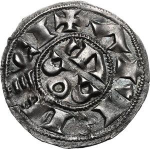 obverse: France.  Raymond Bernard. Denier, 11th century