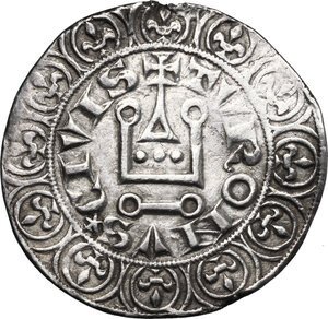 reverse: France.  Philip IV (1268-1314), called the Fair.. Gros Tournois