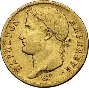 obverse: France.  Napoleon I (1805-1814), Emperor.. 20 Francs 1812 A, Paris mint