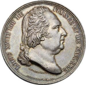 obverse: France.  Louis XVIII (1814-1824).. Compagnie du chemin de fer de Saint-Étienne à la Loire. Token of presence on the company's board of directors