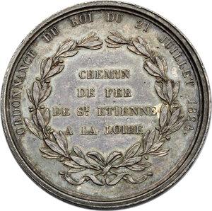 reverse: France.  Louis XVIII (1814-1824).. Compagnie du chemin de fer de Saint-Étienne à la Loire. Token of presence on the company's board of directors