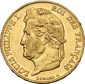obverse: France.  Louis Philippe I (1830-1848). . 20 Francs 1840 A, Paris mint