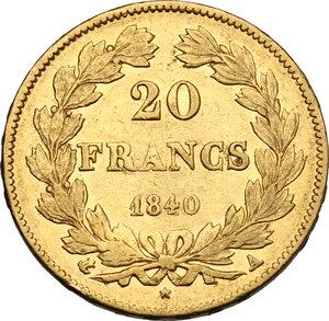 reverse: France.  Louis Philippe I (1830-1848). . 20 Francs 1840 A, Paris mint