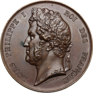obverse: France.  Louis Philippe I (1830-1848). . AE Medal 1846