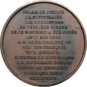 reverse: France.  Louis Philippe I (1830-1848). . AE Medal 1846