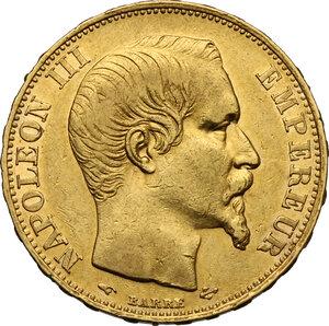 obverse: France.  Napoleon III (1852-1870).. 20 Francs 1857 A, Paris mint