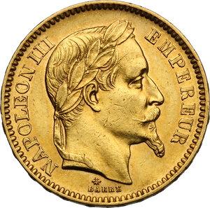 obverse: France.  Napoleon III (1852-1870).. 20 Francs 1862 A, Paris mint