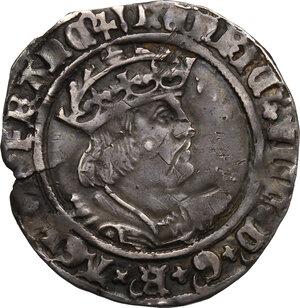 obverse: Great Britain.  Henry VIII (1509-1547).. Groat, London mint