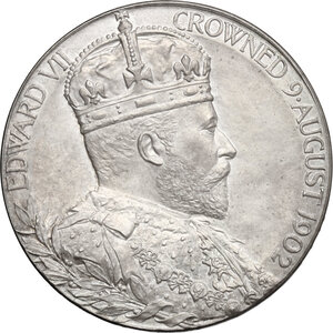 obverse: Great Britain.  Edward VII, with Alexandra (1901-1910). Medal 1902 for Coronation