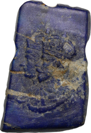 obverse: Great Britain.  George V (1910-1936).. Lapis lazuli cameo representing George V and his wife Mary of Teck