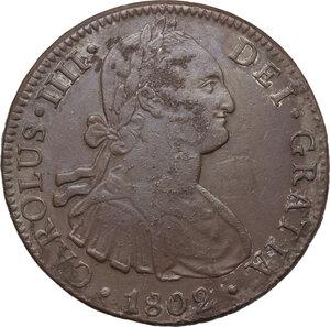 obverse: Mexico.  Carlos IV (1788-1808).. 8 Reales 1802, Mexico city mint