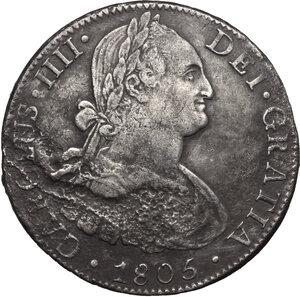 obverse: Mexico.  Carlos IV (1788-1808).. 8 Reales 1805, Mexico city mint