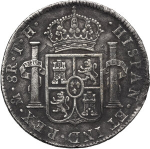 reverse: Mexico.  Carlos IV (1788-1808).. 8 Reales 1805, Mexico city mint