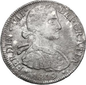 obverse: Mexico.  Ferdinand VII (1808-1833). 8 Reales 1809, Mexico city mint